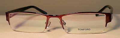 Tom Ford FT6003 Bronze Half Rim Optical Glasses, 53mm, 18mm, 135mm, Unisex