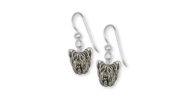 Skye Terrier Earrings Jewelry Sterling Silver Handmade Dog Earrings SKY1H-E