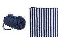 navy strip picnic blanket from the great little trading company