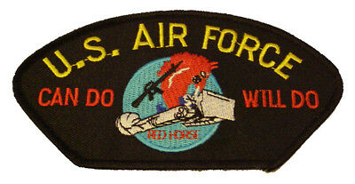 USAF AIR FORCE CHARGING CHARLIE RED HORSE CAN DO WILL DO PATCH CIVIL ENGINEER