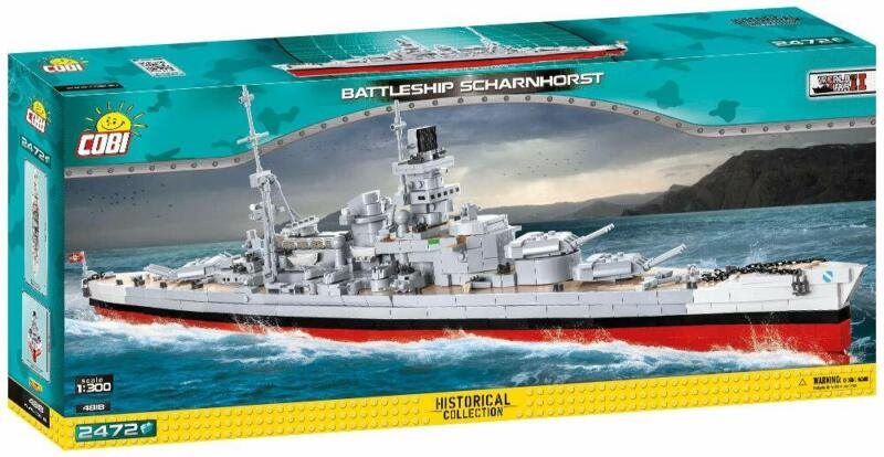 COBI Historical Battleship Scharnhorst 1:300 Model Building Block Set # 4818