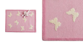 GLTC Large Pink Butterfly Rug rrp £175 Brand New
