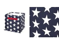1 navy blue star storage cube from the great little trading company