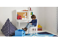 Second hand GLTC white whittington child's desk, hutch and chair - £80 (paid £255 new)