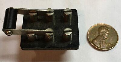 Miniature 2 Pole 2 Throw Knife Switch - Steampunk - Ham Radio