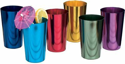 6 PCS Anodized Aluminum Tumblers Drinking Glasses Vintage Retro Metal Cup