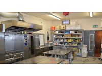 Commercial Kitchen For Rent Full or Part Time 24/7 from £7.50/hr