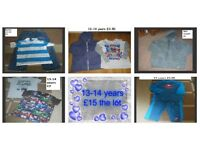 boys clothes bundle 13-14 years from a smoke and pet free home collection from didcot