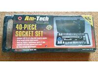 Brand New 40 Piece Socket Set