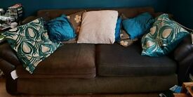 2 Brown Sofas in Very Good Condition