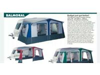 NR Balmoral Caravan Awning new 17ft with curtains and instructions never used