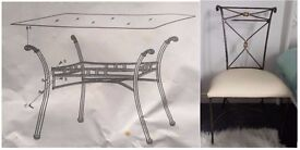Mark Webster Glass & Bronze Dining Table & 6 Chairs FREE DELIVERY 008