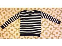 Striped Topshop nautical jumper size 8