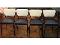 1950s tubular steel kitchen chairs qty 4.