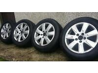 16 inch genuine volkswagen alloys wheels