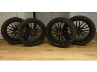 """Breyton LS Race alloy wheels 20"""" Satin black BMW Audi VW Continental tyres 5X112"""