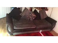 DFS Three seater with single Chair (excellent cond)