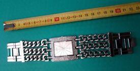 Silver Tone Ladies Crystal Watch