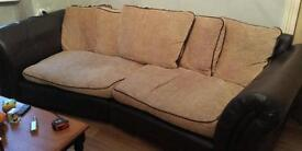 Lovely 3 piece suit 4 Seater armchair foot stool