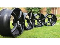 Tsw racing 17x7j 4x108 alloy wheels finished in jet black citreon Ford Peugeot