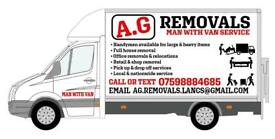 Man and van removals, house moving, house clearance, junk rubbish collection, furniture disposal