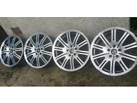 19 inch 5x120 Genuine staggered BMW M3 alloys wheels