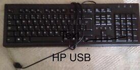 Hewlett Packard USB keyboard in excellent condition