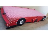 Child's First Racing Car Bed including Mattress