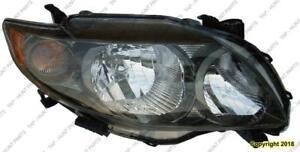 Head Lamp Passenger Side S/Xrs Models  Toyota Corolla 2009-2010