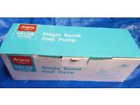 Argos Value Single Barrel Foot Pump
