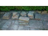 Slabs or rockery stones