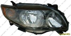 Head Lamp Passenger Side S/Xrs Models  Toyota Corolla 2009-2010