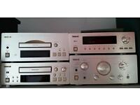Teac 500 seperates system & Alesis monitor one speakers