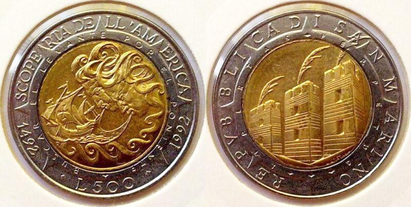 San Marino 1992 500 Lire Uncirculated (KM286)