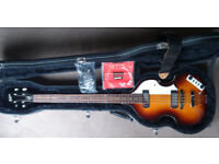 Hofner Ignition Electric Violin Bass (Sunburst) with hardcase and accesories - used