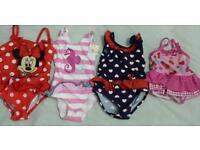 Girls swimming costume. 3-6,9-12 and 12-18