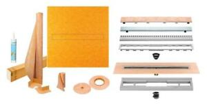 Schluter Systems Kerdi-Line Shower Kit with Linear Drain & Grate Assembly Canada Preview