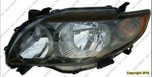 Head Light Driver Side S/Xrs Models  Toyota Corolla 2009-2010