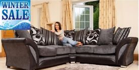 *SPECIAL OFFER*COME AND VIEW IT ,TRY IT THEN BUY IT* BRAND NEW CORNER SOFA SUITE BLACK/GREY