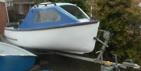 Fishing boat 14ft x 5ft and Road Trailer .... Unfinished project