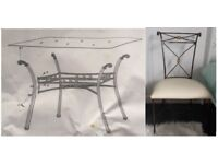 Mark Webster Glass & Bronze Dining Table & 6 Chairs FREE DELIVERY 602
