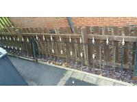 Wrought irion fence panels