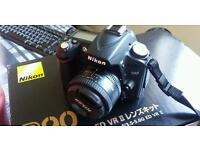 Nikon D90 with 50mm Fixed Length Lens, Bag and Accessories