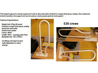 white hinged arm support grab rail crewe £30