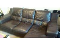 3 seater Leather corner sofa