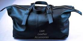 Brand new 100% Leather Luxurious Mens Travel Bag