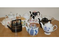 12 Vintage Assorted Mismatched Teapots Wedding Tea Rooms Party