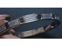 Ultimate Cartier Love Bracelet Diamond Paved and Black Screws Free delivery