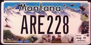 MONTANA-ENJOY-BEAR-JEEP-ELK-MOUNTAINS-Graphic-License-Plate-FREE-US-SH