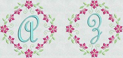Machine Embroidery Fonts Designs Floral Fancy Frame Brother Bernina Singer New Font Frames Embroidery Design